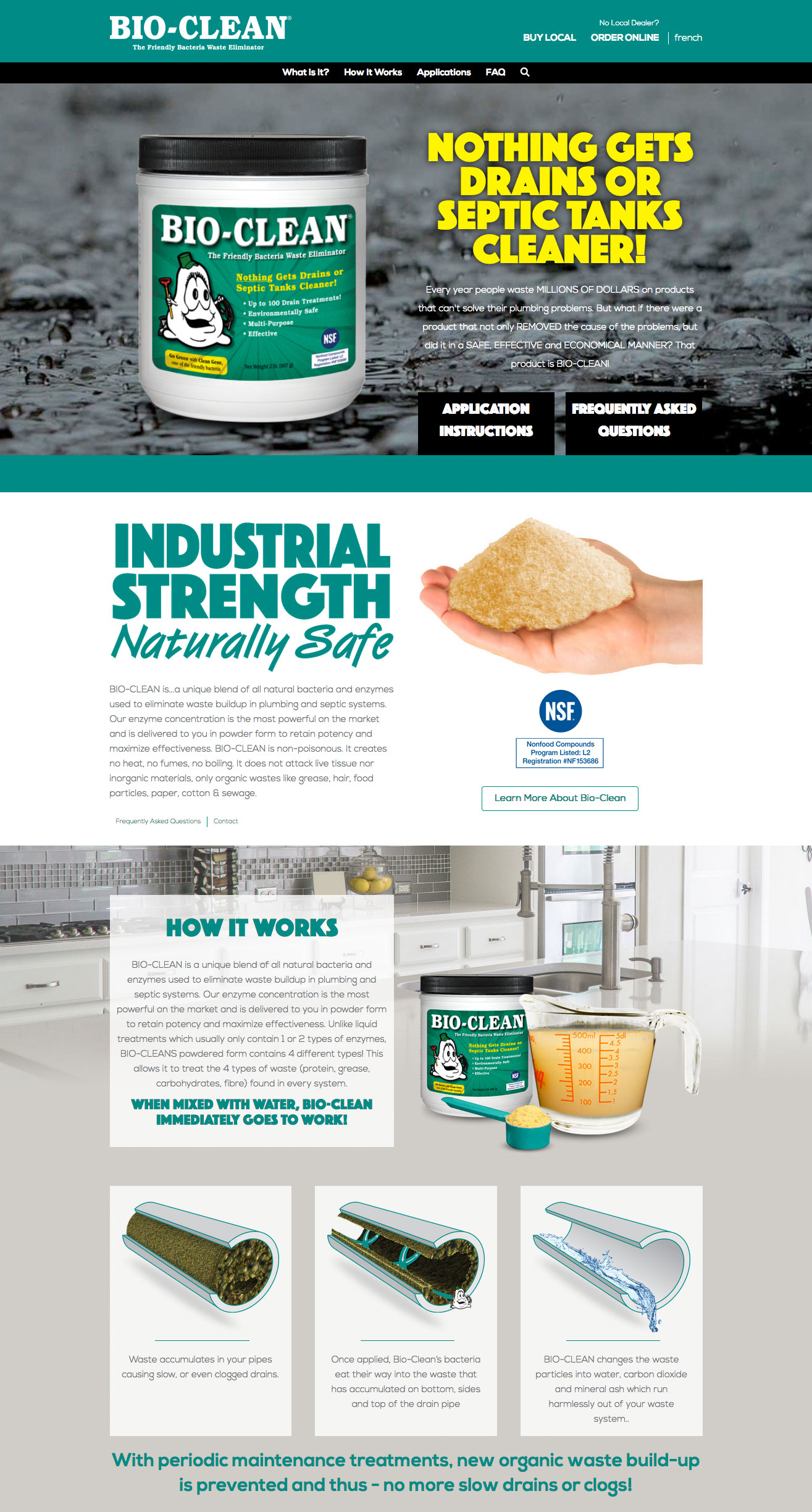 Bio-Clean Front Page
