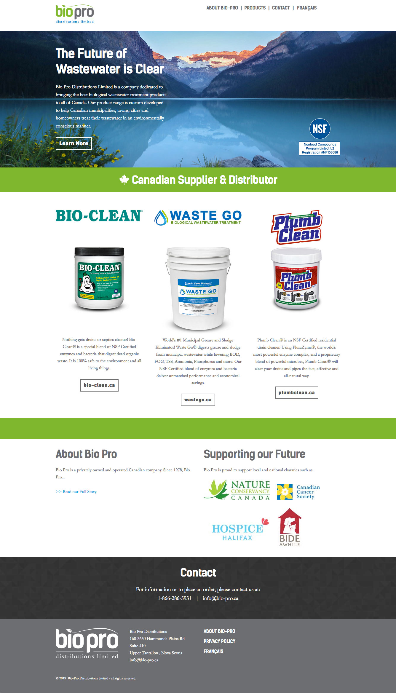 Bio-Pro Distributions Front Page