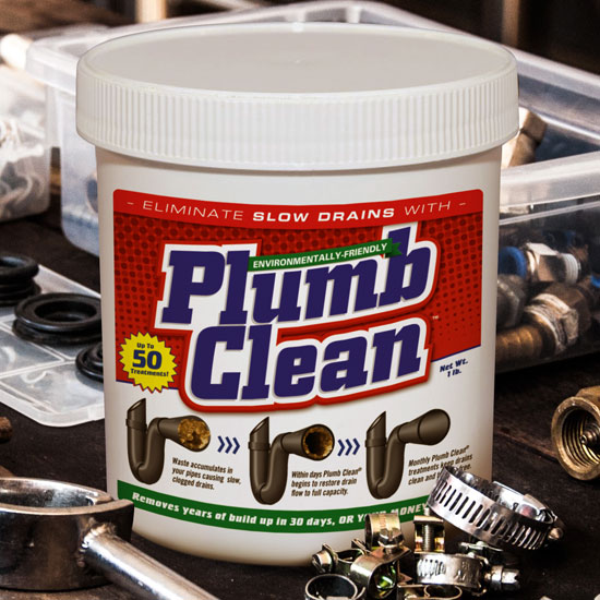 Plumb Clean Package Label