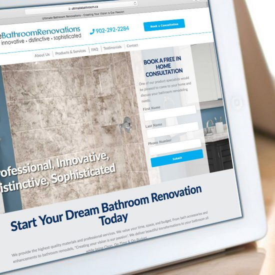 Ultimate Bathroom Renovations Website