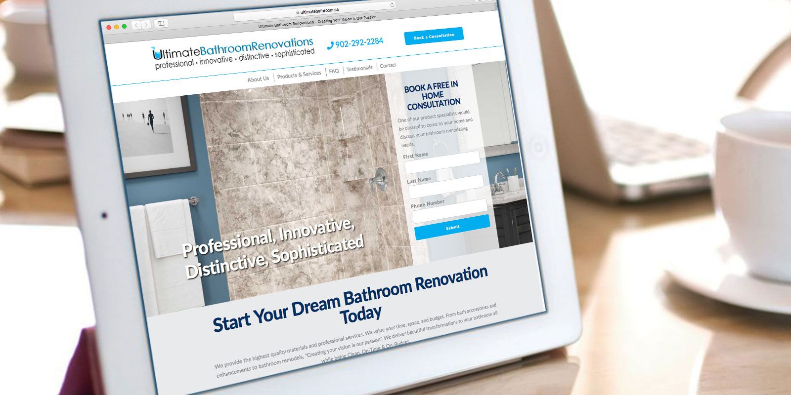 Ultimate Bathroom Renovations Website